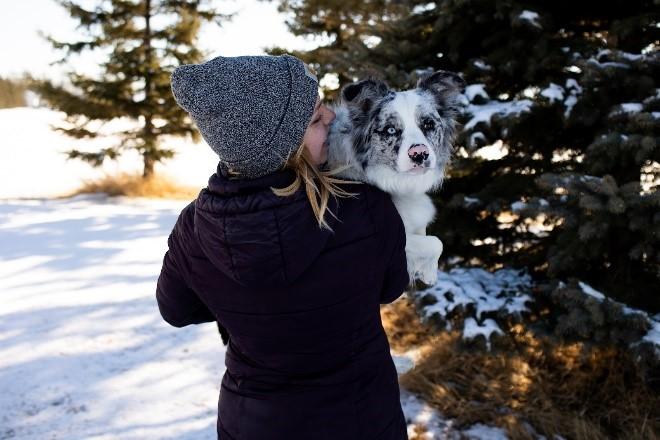 Dani with her sweet dog Crash